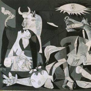 Fragmento del cuadro Guernica, de Pablo Picasso